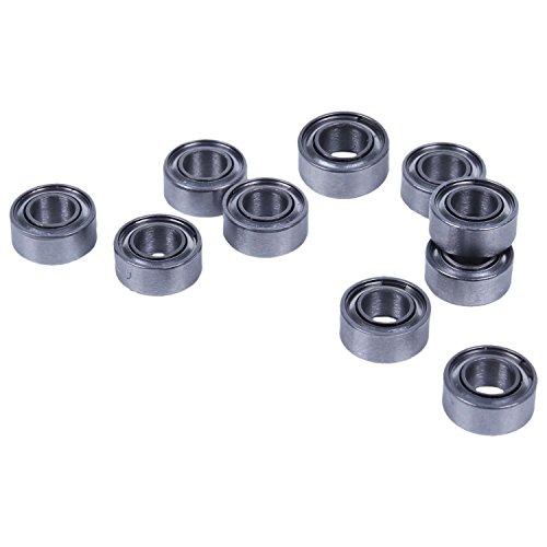 YeBetter 10 StüCke Miniatur Versiegelt Metall Geschirmt Metrische Radial Kugel Lager Modell: MR63-ZZ 3x6x2.5Mm