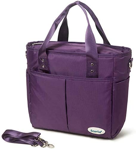 Insulated Lunch Bags for Women Work SCORLIA Extra Large Lunch Tote Bag With Removable Shoulder product image