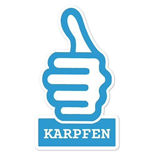 JOllify Sticker - Karper - 10cm - Design: thumbs up - duim hoog