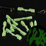 Clip de pesca, paquete de 10 unidades de soporte portátil para palo de luz accesorio químico superior práctico señuelo fluorescente punta de caña de noche (L)