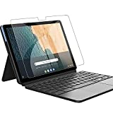 Len-ovo IdeaPad Duet Chromebook 10.1 インチ ガラス フィルム [YEZHU ] 9H硬度の液晶保護 日本板硝子社国産ガラス採用 気泡防止 耐衝撃 擦り傷防止 耐指紋 撥油性 高透過率 ラウンドエッジ加工 IdeaPad Duet Chromebook 10.1 インチ 2020年 強化ガラスフィルム (透明な)