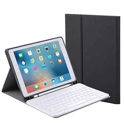 Voor Apple iPad Mini 4 / Ipad Mini 5 Keyboard Case Leather Flip Vouw Tablet Case Wireless Bluetooth Keyboard beschermhoes Built-in potlood houder