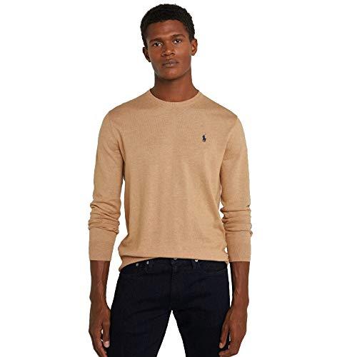 Polo Ralph Lauren Maglioni di Cotone C-Neck (L, Classic Brown)