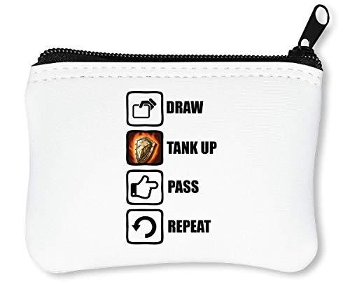 Draw Tank Up Pass Repeat Funny Video Game Graphic Reißverschluss-Geldbörse Brieftasche Geldbörse