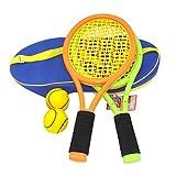 Katyma 1 Juego de Raquetas de Tenis Set de Tenis para niños Juego Deportivo Entrenamiento Juguetes Equipo Deportivo con Pelota para niños al Aire Libre