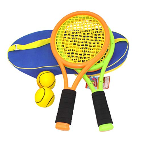Set di Racchette da Tennis, Set di Racchette da Tennis per Bambini con Racchetta da Tennis in plastica per Giochi Sportivi per Bambini