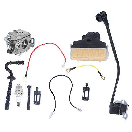 Kit de carburador de motosierra, kit de reemplazo de carburador apto para MS230 MS210 MS250 021 023 025 Piezas de motosierra