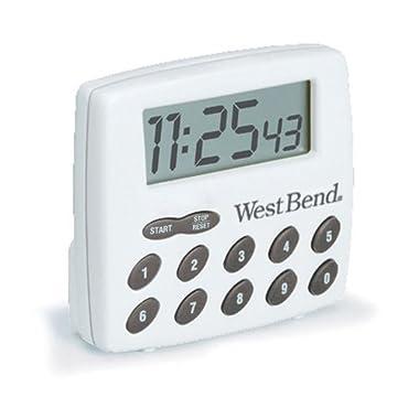 West Bend 40005X Digital Timer, White