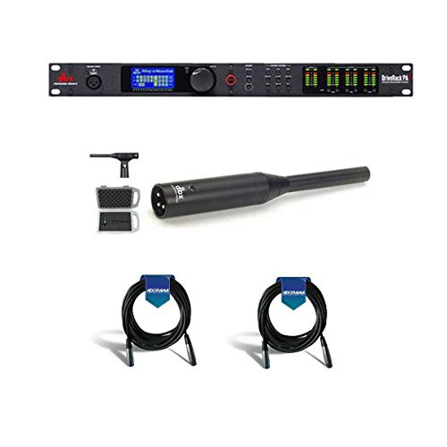 DBX DriveRack PA2 Complete Loudspeaker Management System, 8-Band Parametric EQ, Subharmonic Synthesis, Driver Alignment Delays - With dbx RTA-M Reference Microphone with Clip, 2x 20