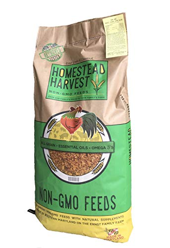 Homestead Harvest Non-GMO Whole Grain Layer Blend 16% for Laying Hens or Ducks 40lb