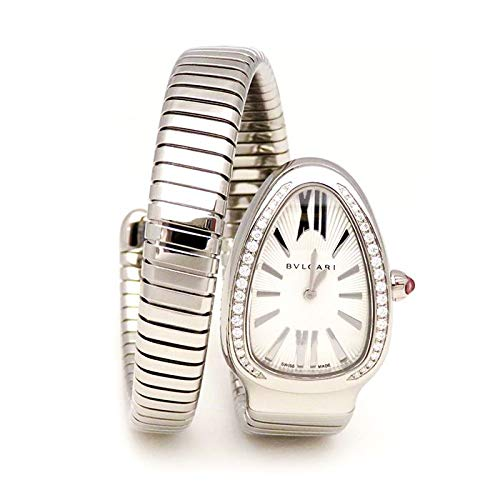 ブルガリ BVLGARI セルペンティ ベゼルダイヤ SP35C6SDS.1T/L シルバー文字盤 新品 腕時計 レディース (W207278) [並行輸入品]