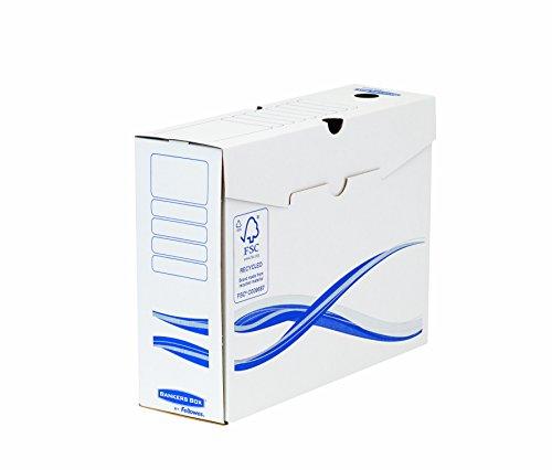 Bankers Box Basic Archivschachtel (A4+, 100mm) 25 Stück weiß/blau