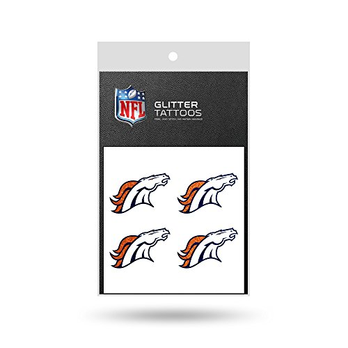 NFL Denver Broncos Glitter Tattoo, set of 4