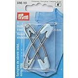 Prym 086101 - Agujas de seguridad para bebé (55 mm, acero inoxidable), color azul claro