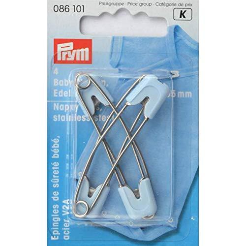 Prym 086101 Baby-Sicherheitsnadeln, 55mm, hellblau, Rostfreier Stahl