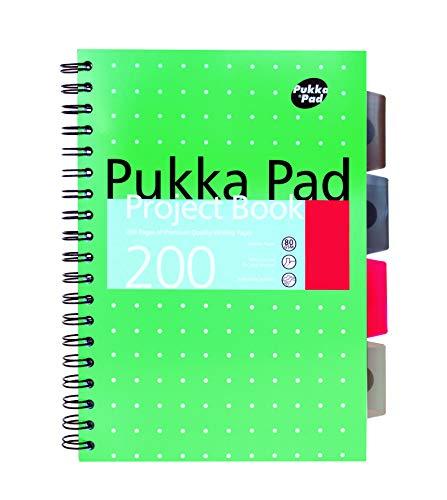 Pukka Pad B5 - Cuaderno de proyectos de espiral (3 unidades, tapa metálica)