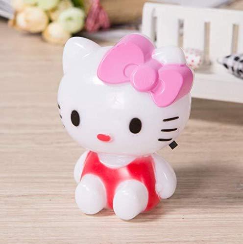 Linfei Hello Kitty Led Night Light Nuit Lampe De Bande Dessinée Avec Ac110V Us/Eu Plug Cadeaux Pour Kid/Bébé/Enfants Chambre Lampe De Chevet
