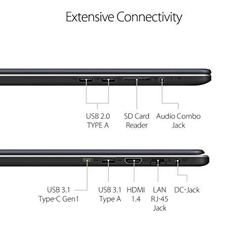 ASUS VivoBook Pro Thin & Light Laptop, 17.3 Full HD, Intel i7-8550U, 16GB DDR4 RAM, 256GB M.2 SSD + 1TB HDD, GeForce GTX 1050 4GB, Backlit KB, Windows 10 - N705UD-EH76, Star Gray, Casual Gaming