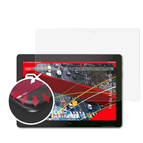 atFolix Schutzfolie kompatibel mit bq Aquaris M10 Folie, entspiegelnde & Flexible FX Bildschirmschutzfolie (2X)