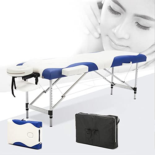 Inconnu Table de Massage en 2 Sections, Lit de Massage Portable 8 réglables en Hauteur, Table de...