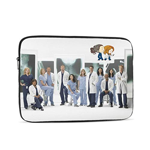 Greys Anatomy Laptop Sleeve Case Protective Soft Padded Zipper Cover Carrying Computer Bag Laptop Sleeve Bag Water Repellent Vertical Protective Case 13 inch