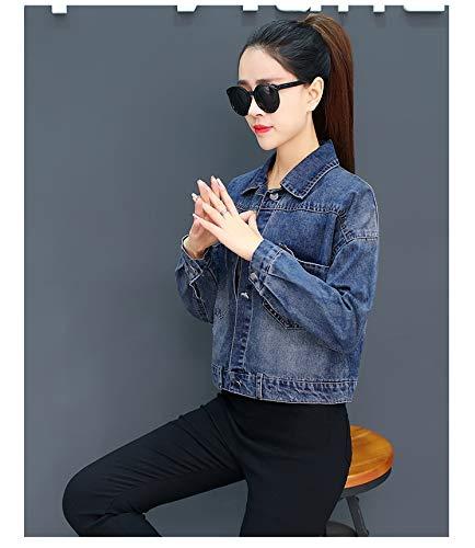 NZJK vrouwen Basic Coat denim jas korte tops vintage denim jas voor vrouwen jeans jas vrouwelijk denim jas losse fit casual stijl