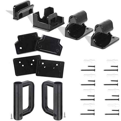 Babepai Hardware Replacement Parts Kit for Retractable Baby Gate, Full Set Wall Mounting Accessories Brackets Anchors Screws Wall Spacers Latches Repair Parts for Retractable Gate Asin B07WXRJQDS