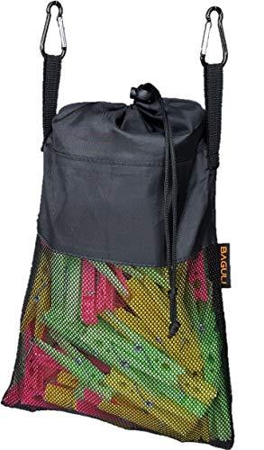 BAGULI Multifunktionale Netztasche zum Aufhängen mit Kordelzug Wäscheklammerbeutel - Aufbewahrungstasche für Wäscheklammer, Spielzeug, Kleinteile - Netztasche für Toilettenartikel - Maße 22/30x20cm