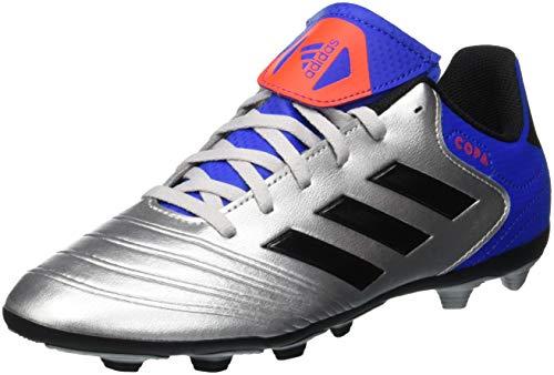 adidas Copa 18.4 FxG, Zapatillas de Fútbol para Niños, Plateado (Silver Metallic/Core Black/Football Blue 0), 37 1/3 EU