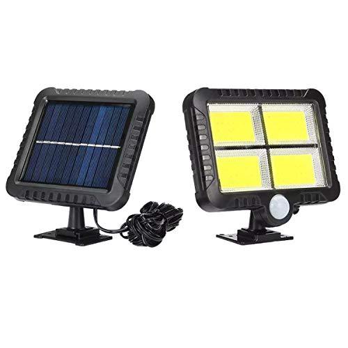 GFSDGF 128LED COB Solarlicht Outdoor Motion Sensor Wandleuchte wasserdichte Gartenlampe Scheinwerfer Notfallpfad Sicherheitslampe