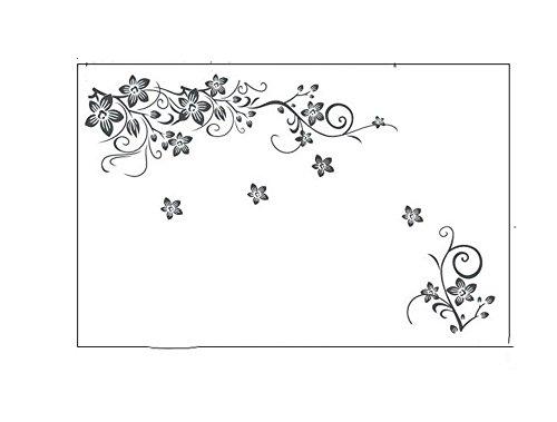 Bricolage Wall Art Decal Décoration De Mode Romantique Fleur Wall Sticker/Stickers Muraux Décor À La Maison 3D Fond d'écran