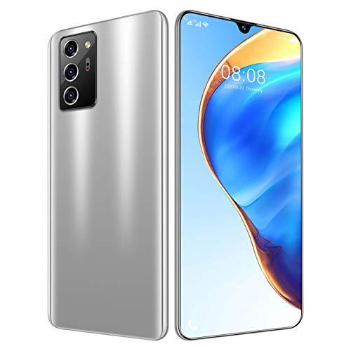 LINGZE Smartphone Android 10, cámara Trasera Triple de 48 MP, teléfono Celular con Doble SIM, batería de 5600 mAh, Pantalla Completa de 7.1 Pulgadas, Color Blanco