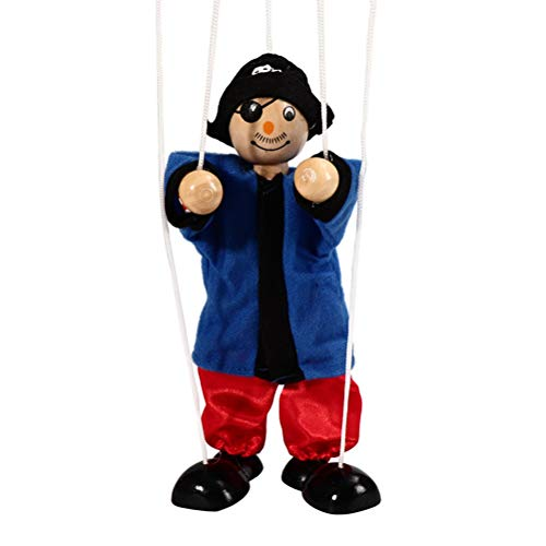 Daxoon Pull String Puppet Pirate Kids marioneta Madera