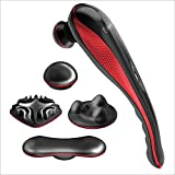 Wahl Deluxe Lithium Ion Deep Tissue Cordless Percussion Therapeutic Handheld Massager for Muscle, Back, Neck, Shoulder, Full Body Pain Relief–Use at Home, Car, Office, or Travel, Red – Model 4232-100