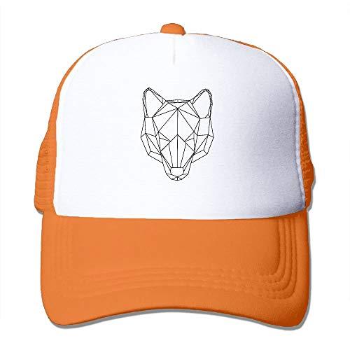 Voxpkrs Geometry Wolf Mesh Trucker Caps/Hats Adjustable for Unisex Black