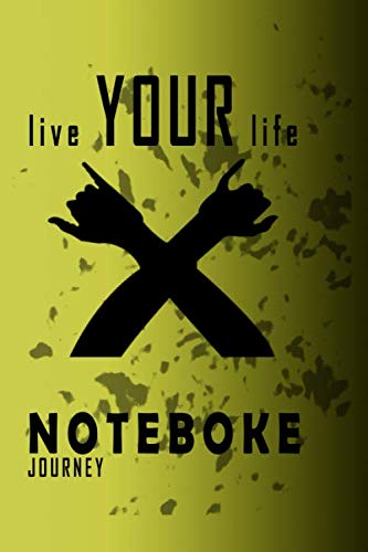 LIVE YOUR LIFE :: / Diary / Notebook makes an awesome unique birthday card / greeting card idea as a present!