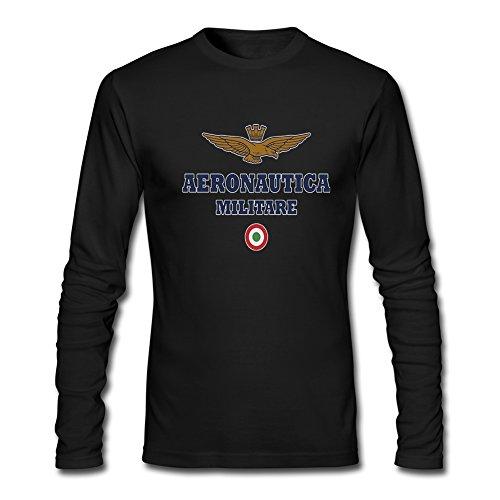 Aeronautica Militare 2016 - Maglietta a maniche lunghe da uomo Nero XXL