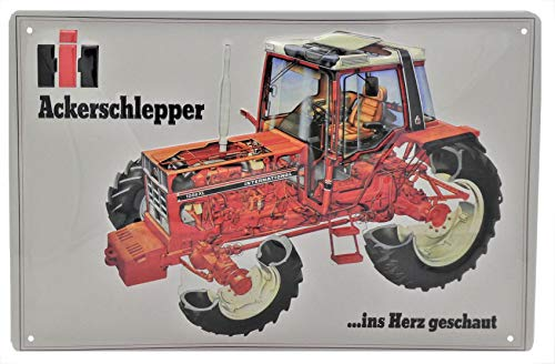 Meer reliëfbordjes hier... IHC ACKERSCHLEPPER International Tractor Trecker Bulldog landbouw blikken schild-reclame-reclame reclame retro merk schild-magneet-metalen schild-reclamebord wandbord