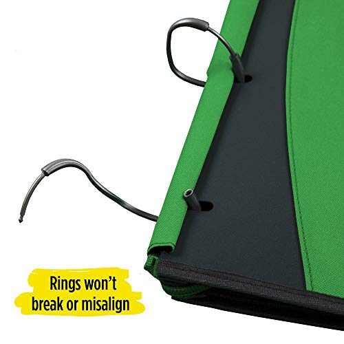 Five Star Flex Hybrid NoteBinder, 1 Inch Ring Binder, Notebook and Binder All-in-One, Electric Green (73416) Photo #3