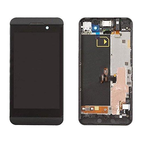 xiaowandou Reparar para su teléfono IPartsBuy Pantalla LCD + Asamblea de digitalizador de Pantalla táctil con Marco for Blackberry Z10 4G Accesorio a renovación (Color : Black)