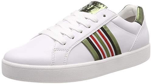 MARCO TOZZI Damen 2-2-23702-32 Sneaker, Weiß (White/Green 175), 39 EU