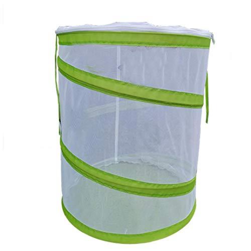 DierCosy Insect Habitat Cage Caterpillar Haus Netz-Ineinander greifen Cage mit Reißverschluss Schutz Terrarium Pop-up Insektennetz Cage M