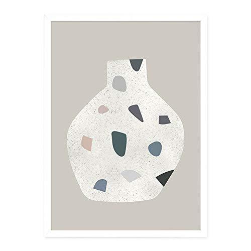 Abstrakte geometrische Grafik Skandinavien Leinwand Malerei Wandkunst Bild Poster Druck Galerie Wohnzimmer Wohnkultur Unframe Bild BILD E 60x90 cm ohne Rahmen