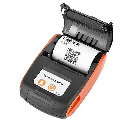 QCHEA Mini-Tasche Wireless-BT Thermodrucker, tragbare Thermodrucker Hand 58mm Bluetooth-Belegdrucker for Retail Stores, Restaurants Fabriken Logistik
