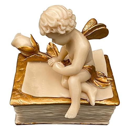Colcolo Angel Storage Box Caja de Recuerdos con Tapa Caja para Manualidades para