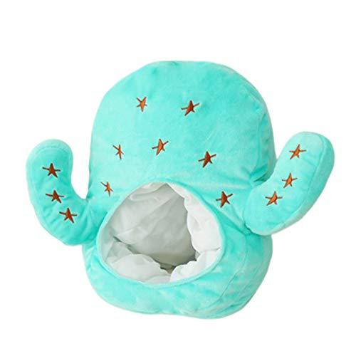 Clenp Plüsch Kopfbedeckung Hut, Kaktus Aubergine Wassermelone Sonnenblume Weiche Plüschpuppe Kopfbedeckung Hut Schlafspielzeug EIN Einheitsgröße