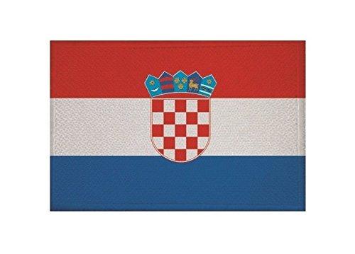 U24 Aufnäher Kroatien Fahne Flagge Aufbügler Patch 9 x 6 cm