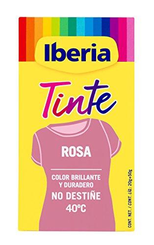 Iberia - Tinte Rosa para ropa, 40°C 🔥