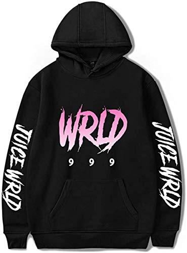Rapper Juic-E Wrl-D Hoodie, Hip Hop Unisex Sweatshirt Pocket Pullover Tops For Men Women (Black 1, Small)