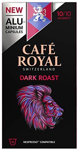 Café Royal Dark Roast 100 Capsules en Aluminium Compatibles avec le Système Nespresso (R)*; Intensité: 10/10; (Lot de 10X10)